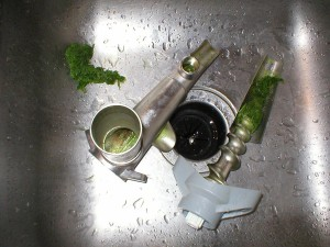wheatgrass juicer cleaning