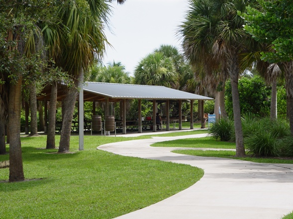 One of the several picnic areas at Burt Reynolds Park - info call 561-966-6611
